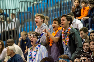 2/26/2018 - B-CC fans,  Churchill v B-CC Boys Basketball, ©2018 Jacqui South Photography