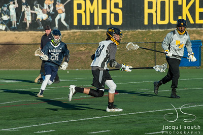 3/16/2018 - Richard Montgomery long stick middie Kieran Chai-Onn (32), Magruder v Richard Montgomery Boys Lacrosse, ©2018 Jacqui South Photography