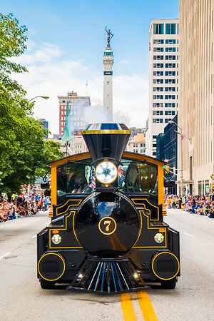 Boilermaker Special VII at the 2017 500 Festival Parade downtown Indianapolis.
