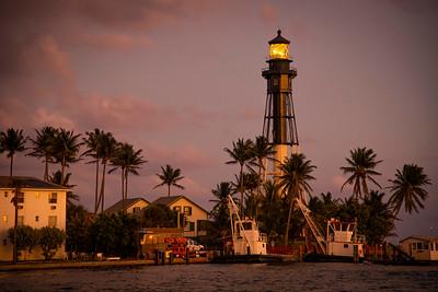 The Hillsboro Lighthouse at Sunset - Cooper