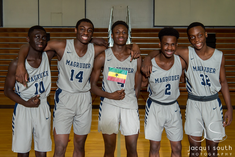 2/7/2019 - Magruder Boys Basketball Team, ©2019 Jacqui South Photography