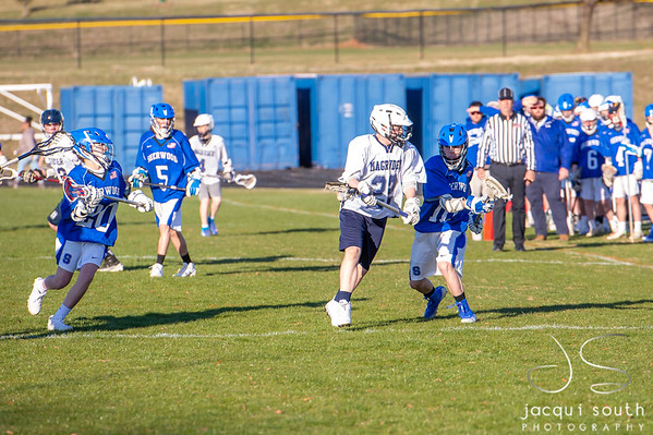 3/27/2019 - Magruder Boys JV Lacrosse, ©2019 Jacqui South Photography