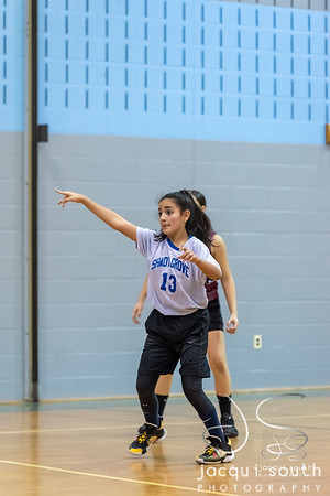 1/14/2020 - SGMS Girls Basketball, ©2019 Jacqui South Photography