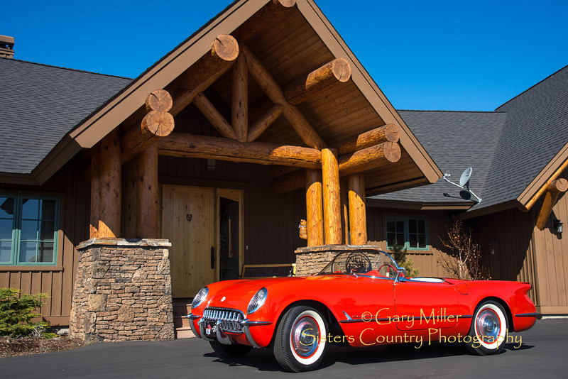 1955 Corvette restored and owned by Rodger Dwight on May Day 2013- Copyright © 2013 by Gary N. Miller