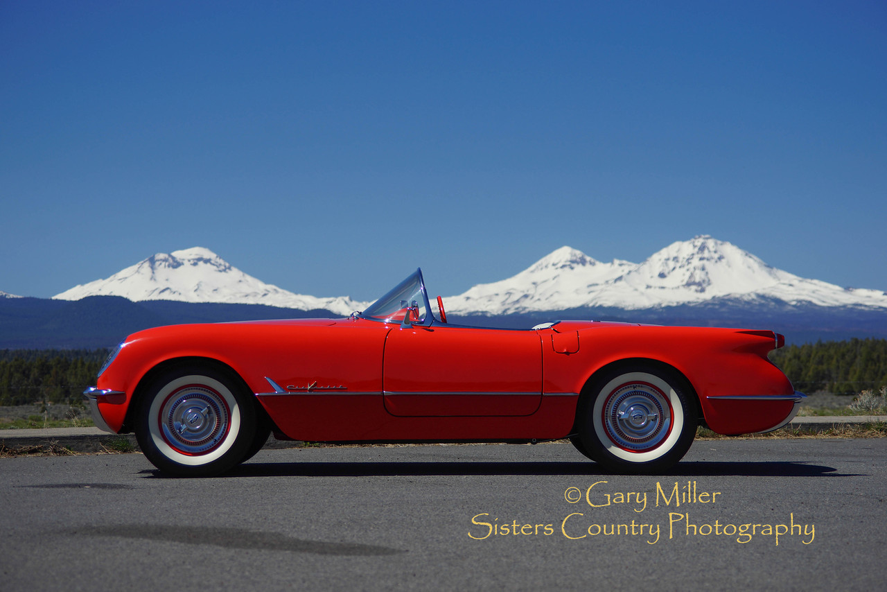 1955 Corvette restored and owned by Rodger Dwight of Sisters, Oregon on May Day 2013- Copyright © 2013 by Gary N. Miller