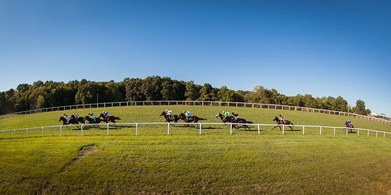 Racing action at Kentucky Downs 9.14.15.