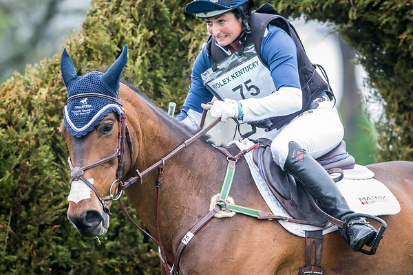 Jennie Brannigan, and Cambalda, on the Cross Country 4.25.15