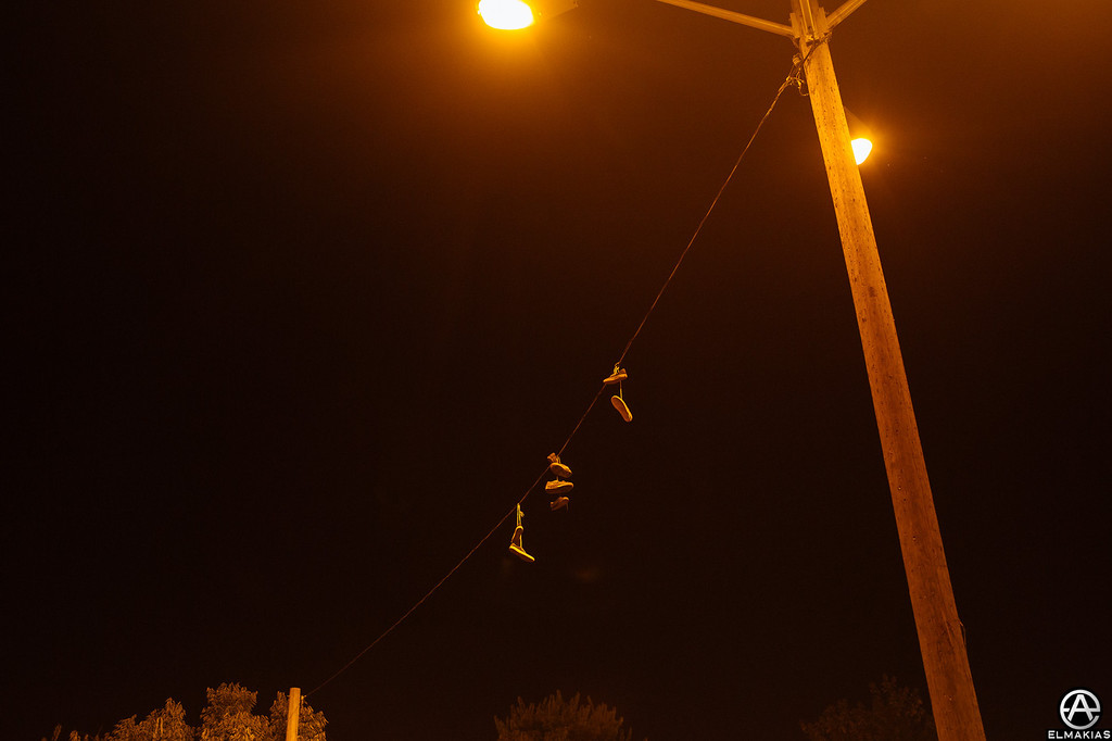OMG shoes (on a wire)