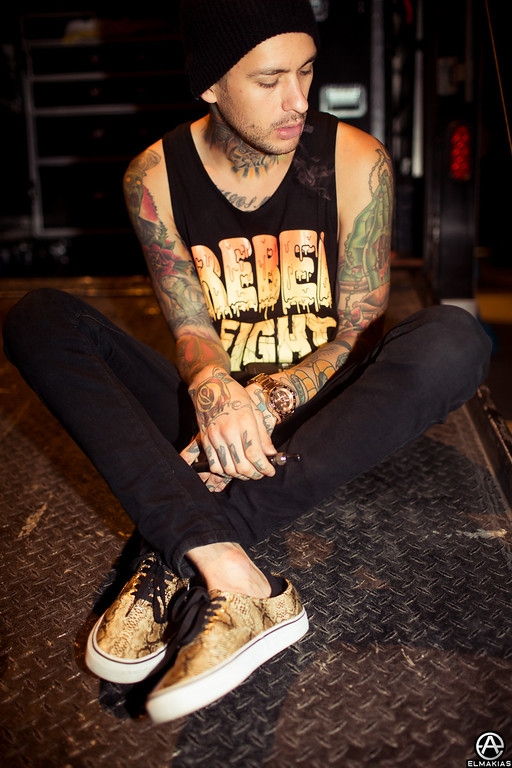 Mike Fuentes of Pierce The Veil - Right Back At It Again 2013 Canada Tour