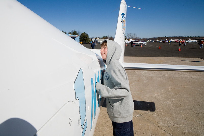 Pictures from an open house at Robertson Field in Plainville, CT with a special focus on the AOPA sweepstakes plane.