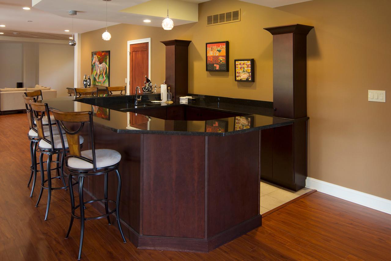 Bar in basement family room
