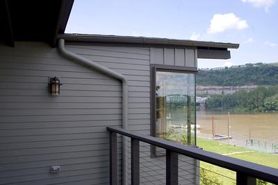 2nd floor balcony with view of bedroom window