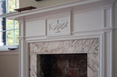 Bedroom: fireplace