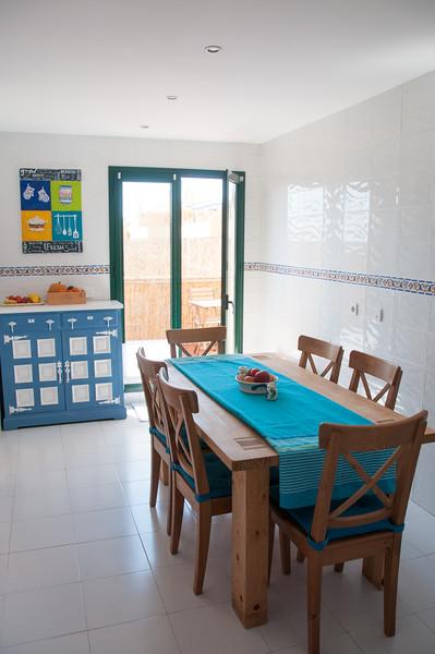 Kitchen - windows facing west