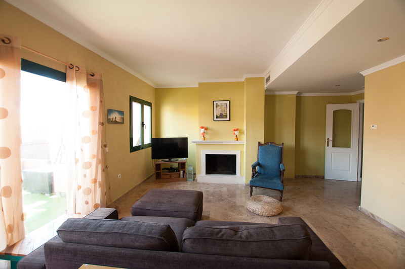 Living room, windows facing east
