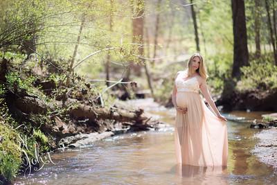 Ashley Sisk wearing Melody Lane Dress