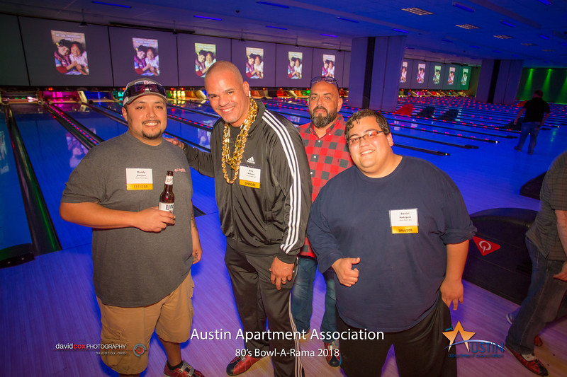 """Strikes & gutters, dude. Strikes & gutters with the Austin Apartment Association at 80's Bowl-A-Rama. See more pictures & Order prints: <a href=""""https://bit.ly/2qxiefs"""">https://bit.ly/2qxiefs</a>"""