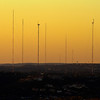 Television station antennas to the West of Austin