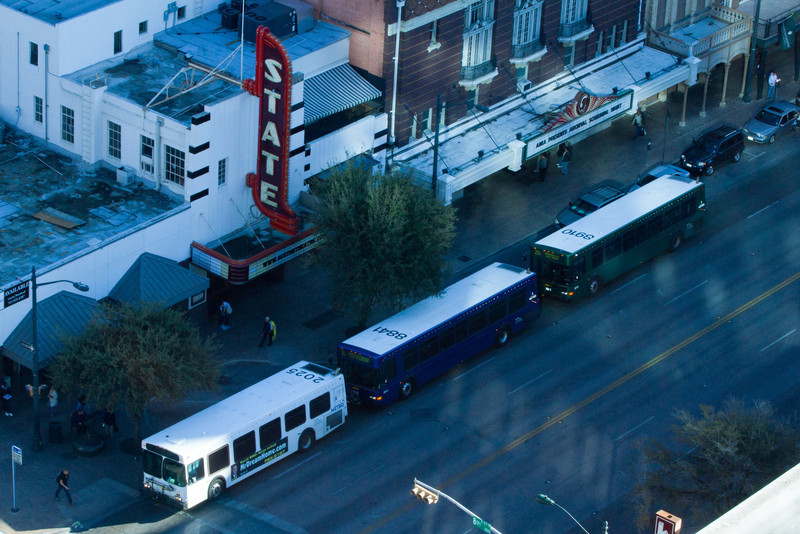 A trio of buses