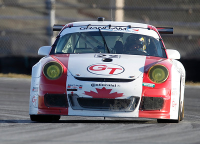 Bullet Racing Porsche GT3 Cup car during the first day of the Rolex 24hr at Daytona International Speedway, January 28, 2012