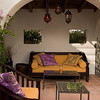 Morrocan style courtyard<br /> Lighting furniture & fountain by Sacred Space Garden Design