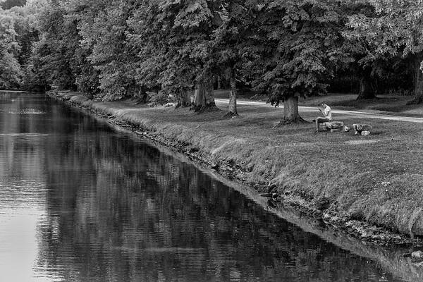 l'homme au parc du château de Dampierre