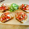 Bruschetta - Marinated Tomatoes, Fresh Mozz, Arugula, Balsamic Glaze, House-made Rustic Italian Bread