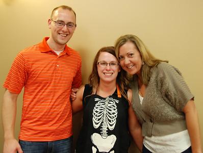 Jennifer Jorgensen (center), marketing director for Akridge & Akridge Chiropractic, with her hubby and hubby's aunt.