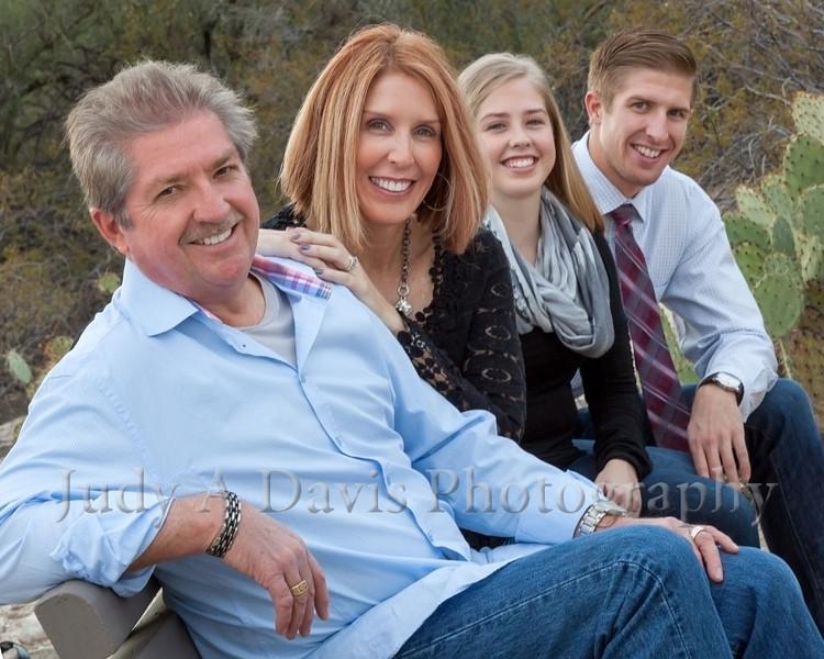 Family Portraits, Sabino Canyon, Tucson, Arizona, Judy A Davis Photography