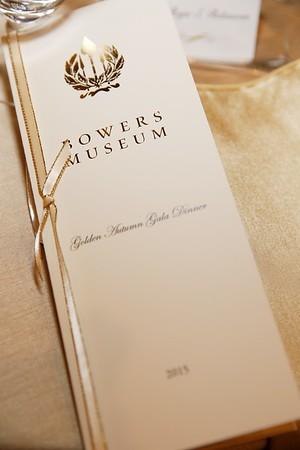 Golden Autumn Gala Dinner, Bowers Museum, Santa Ana, America - 14 Nov 2015