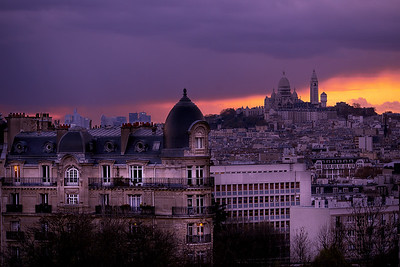 Sacre coeur at blue hour