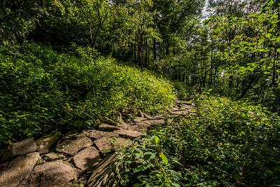 sentiers des sommets Divine  Cumulus  Bromont parc des sommets