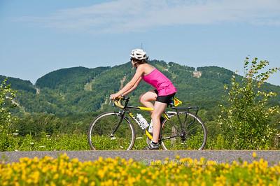 Bromont  vélo  parc équestre