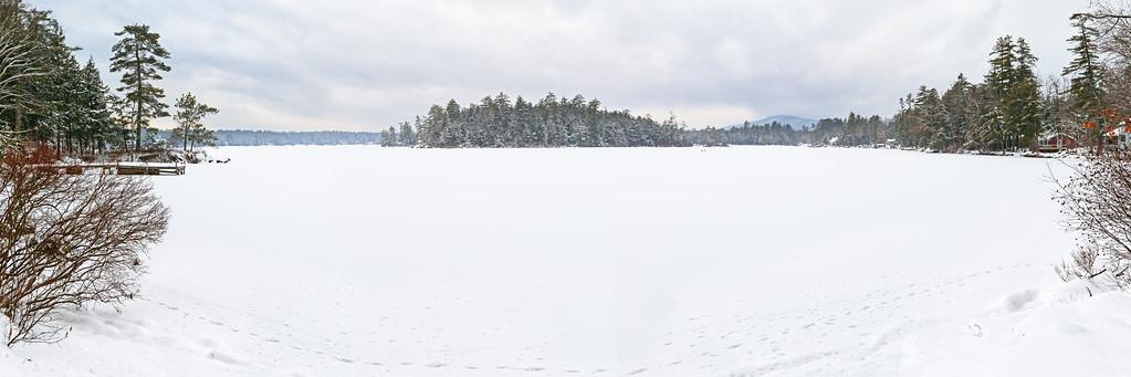 Lake House View Winter pano