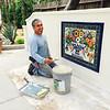 Tiled wall - Omar Huerta Tobon at work