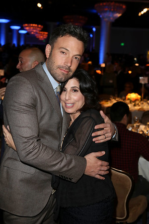 From left, actor Ben Affleck, Career Achievement Award winner, and Sue Kroll, President, Warner Bros. Worldwide Marketing pose during the 2012 Casting Society of America Artios Awards held at the Beverly Hilton Hotel on Monday Oct. 29, 2012 in Beverly Hills, Calif. (Photo by Ryan Miller/Capture Imaging)