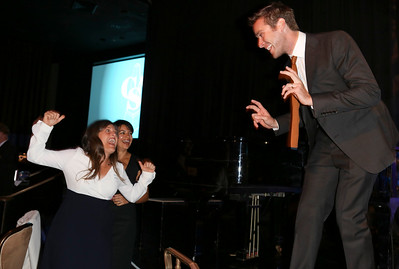 From left, Mindy Marin, Big Budget Feature, Comedy winner; Kara Lipson and actor Armie Hammer celebrate during the 2012 Casting Society of America Artios Awards held at the Beverly Hilton Hotel on Monday Oct. 29, 2012 in Beverly Hills, Calif. (Photo by Ryan Miller/Capture Imaging)