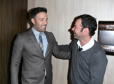 From left, actors Ben Affleck, Career Achievement Award winner, and Rory Cochrane talk at the 2012 Casting Society of America Artios Awards held at the Beverly Hilton Hotel on Monday Oct. 29, 2012 in Beverly Hills, Calif. (Photo by Ryan Miller/Capture Imaging)