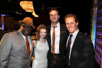From left, actors Cedric the Entertainer, Anna Kendrick, Armie Hammer and Nat Faxon pose during the 2012 Casting Society of America Artios Awards held at the Beverly Hilton Hotel on Monday Oct. 29, 2012 in Beverly Hills, Calif. (Photo by Ryan Miller/Capture Imaging)
