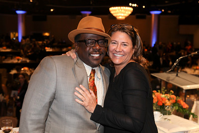 From left, Cedric the Entertainer and Lora Kennedy, Hoyt Bowers Award winner pose during the 2012 Casting Society of America Artios Awards held at the Beverly Hilton Hotel on Monday Oct. 29, 2012 in Beverly Hills, Calif. (Photo by Ryan Miller/Capture Imaging)