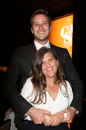 From top, actor Armie Hammer and Mindy Marin, Big Budget Feature, Comedy winner pose during the 2012 Casting Society of America Artios Awards held at the Beverly Hilton Hotel on Monday Oct. 29, 2012 in Beverly Hills, Calif. (Photo by Ryan Miller/Capture Imaging)