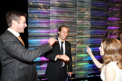 From left, actors Armie Hammer, Nat Faxon and Anna Kendrick celebrate during the 2012 Casting Society of America Artios Awards held at the Beverly Hilton Hotel on Monday Oct. 29, 2012 in Beverly Hills, Calif. (Photo by Ryan Miller/Capture Imaging)