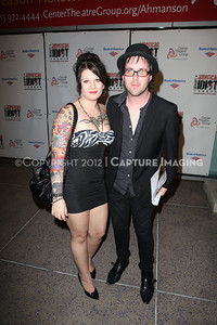 "1203039-003       LOS ANGELES, CA - MARCH 14: The opening night performance of Green Day's ""American Idiot"" at Center Theatre Group's Ahmanson Theatre on March 14, 2012 in Los Angeles, California. (Photo by Ryan Miller/Capture Imaging)"