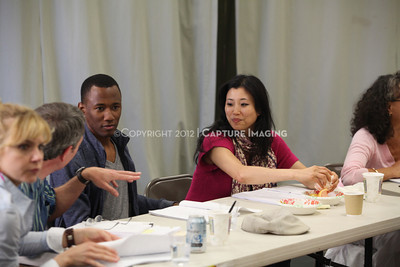 """1206174-038    LOS ANGELES, CA - JUNE 8: The rehearsal of """"Council"""" by Padraic Duffy at the Center Theatre Goup annex on June 8, 2012 in Los Angeles, California. (Photo by Ryan Miller/Capture Imaging)"""