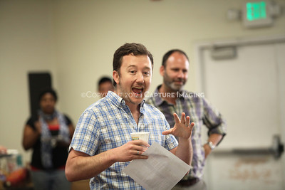 """1206174-006    LOS ANGELES, CA - JUNE 8: The rehearsal of """"Council"""" by Padraic Duffy at the Center Theatre Goup annex on June 8, 2012 in Los Angeles, California. (Photo by Ryan Miller/Capture Imaging)"""