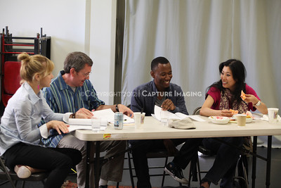 """1206174-040    LOS ANGELES, CA - JUNE 8: The rehearsal of """"Council"""" by Padraic Duffy at the Center Theatre Goup annex on June 8, 2012 in Los Angeles, California. (Photo by Ryan Miller/Capture Imaging)"""