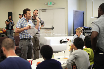 """1206174-003    LOS ANGELES, CA - JUNE 8: The rehearsal of """"Council"""" by Padraic Duffy at the Center Theatre Goup annex on June 8, 2012 in Los Angeles, California. (Photo by Ryan Miller/Capture Imaging)"""