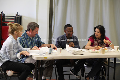"""1206174-039    LOS ANGELES, CA - JUNE 8: The rehearsal of """"Council"""" by Padraic Duffy at the Center Theatre Goup annex on June 8, 2012 in Los Angeles, California. (Photo by Ryan Miller/Capture Imaging)"""