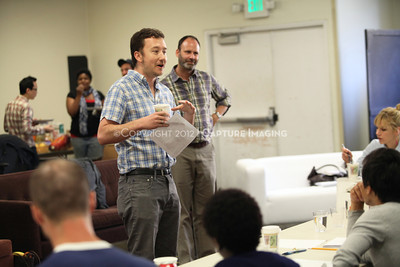 """1206174-004    LOS ANGELES, CA - JUNE 8: The rehearsal of """"Council"""" by Padraic Duffy at the Center Theatre Goup annex on June 8, 2012 in Los Angeles, California. (Photo by Ryan Miller/Capture Imaging)"""