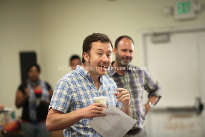"""1206174-007    LOS ANGELES, CA - JUNE 8: The rehearsal of """"Council"""" by Padraic Duffy at the Center Theatre Goup annex on June 8, 2012 in Los Angeles, California. (Photo by Ryan Miller/Capture Imaging)"""